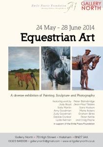 Gallery North Equestrian Art flyer
