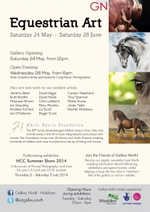 Gallery North Equestrian Art flyer2